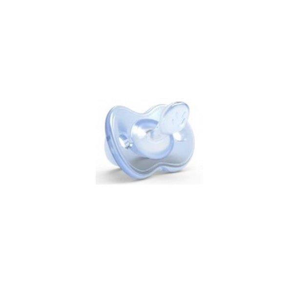 Пустышка ортодонтическая Nuvita Orthosoft Light 0м+ голубая (NV7051Blue)
