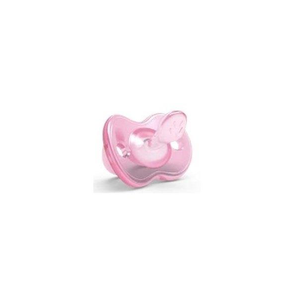Пустышка ортодонтическая Nuvita Orthosoft Light 0м+ розовая (NV7051Pink)