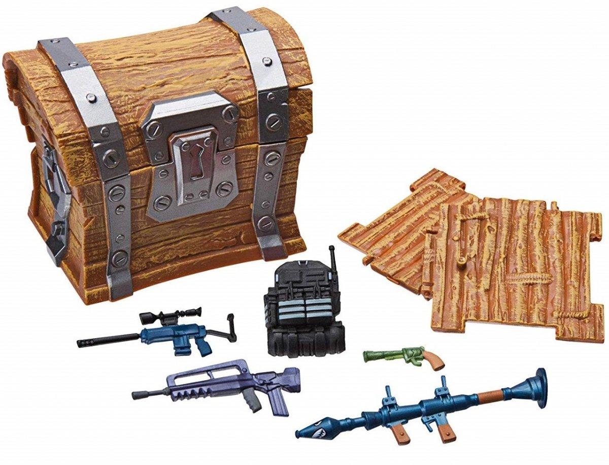Игровая коллекционная фигурка Fortnite Loot Chest, сундук аксессуаров (FNT0001) фото