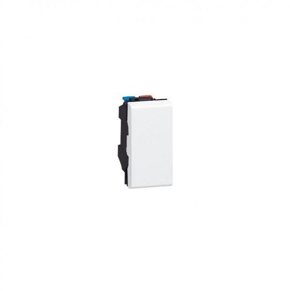 Купить MOSAIC Legrand выключатель кнопочный 1 клавишный (без фиксации) 6А, 250В (1 мод) белый