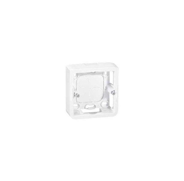 Купить MOSAIC Legrand коробка накладная для суппорта механизмов 080251 (2 мод), 40мм белый