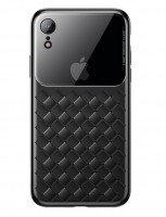 Чехол Baseus для iPhone XR Glass & Weaving Black