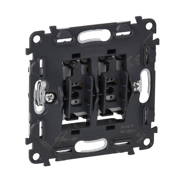 Купить Опции к пассивному сетевому оборудованию, Выключатель Valena IN'MATIC Legrand 6А 250В 2-х кнопочный автоматические клеммы