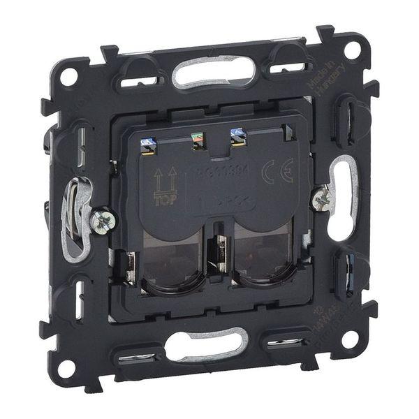 Купить Опции к пассивному сетевому оборудованию, Розетка информационная Valena IN'MATIC Legrand 2ХRJ45 кат. 6 UTP