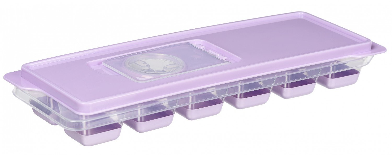 Форма для льоду Ardesto Fresh лиловая з кришкою (AR1101LP) фото