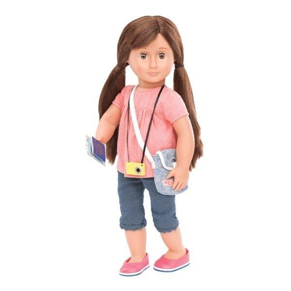 Набор Our Generation DELUXE Кукла Риз с книгой и аксессуарами 46 сантиметров (BD31044ATZ)