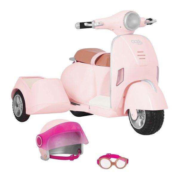 Купить Транспорт для кукол Our Generation Скутер с боковой корзиной (BD37389Z)