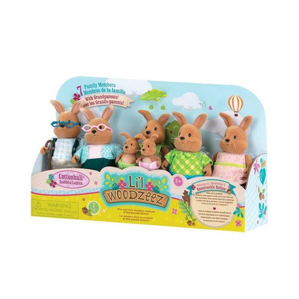 Купить Набор фигурок Li`l Woodzeez Большая Семья Кроликов. 7 единиц (6492Z), LI L WOODZEEZ