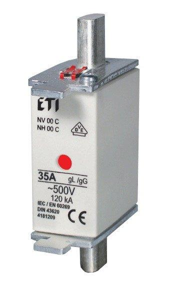 Предохранитель ETI NH-00C/gG 80A 500V KOMBI фото