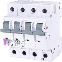 Авт. выключатель ETI ETIMAT 6 3p+N C 25А (6 kA)