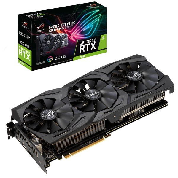 Купить Видеокарты, Видеокарта ASUS GeForce RTX2060 6GB GDDR6 Gaming Strix OC (STRIX-RTX2060-O6G-GAMING)