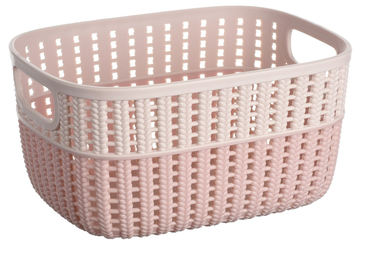 Кошик плетений Ardesto Sweet Home рожева 3 л (AR1730BP) фото1
