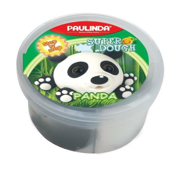 Купить Масса для лепки Paulinda Super dough Панда 40 грамм (PL-081394-7)