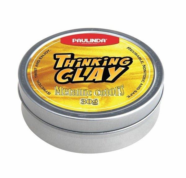 Купить Умный пластилин Paulinda Thinking Clay Металик золотой 30 грамм (PL-170205-TCM-01)
