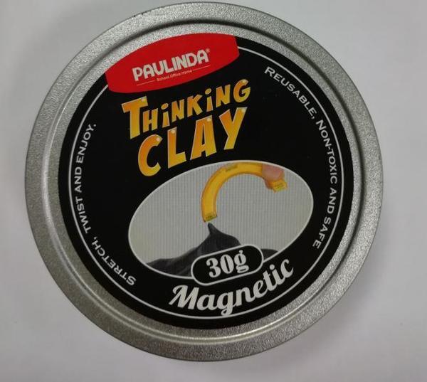 Купить Умный пластилин Paulinda Thinking Clay Магнитный черный 30 грамм (PL-170605-TCMT-01)