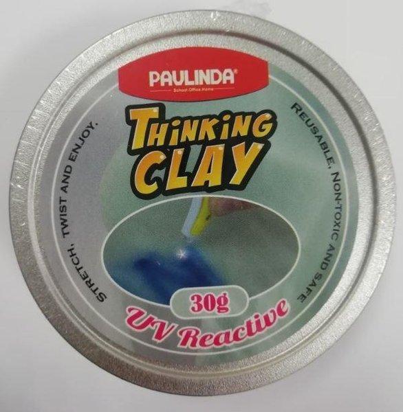 Купить Умный пластилин Paulinda Thinking Clay с УФ фонариком, синий 30 грамм (PL-170805-TCUV-01)