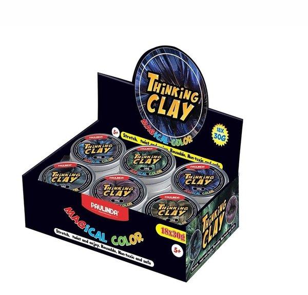 Купить Умный пластилин Paulinda Thinking Clay Magical зеленый 30 грамм (PL-171005-TCMC-02)