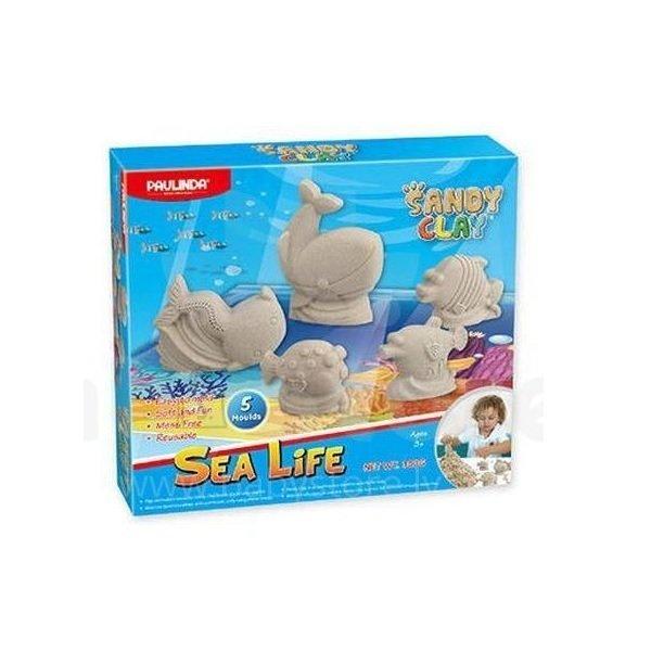 Песок для творчества Paulinda Sandy clay Морская жизнь 300 грамм, 5 единиц (PL-140016)
