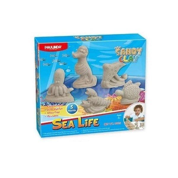 Купить Песок для творчества Paulinda Sandy clay Морская жизнь-животные 300 грамм, 5 единиц (PL-140017)