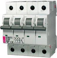 Авт. выключатель ETI ETIMAT 6 3p+N C 63А (6 kA)