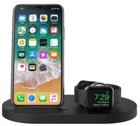 Док-станция BELKIN Qi Wireless iWatch( 1A) + iPhone (7.5W) + USB A 5W/1A Bk