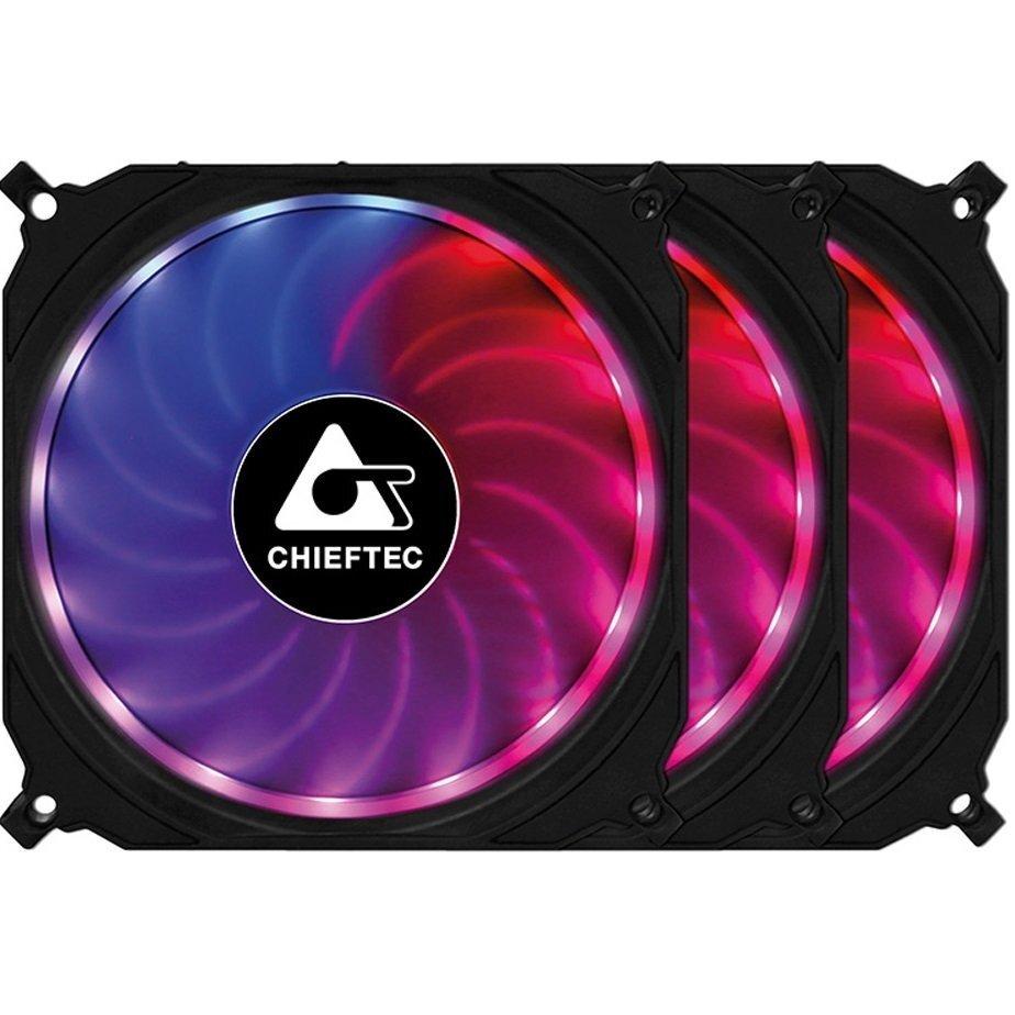 Набор корпусных вентиляторов CHIEFTEC TORNADO 3in1 RGB (CF-3012-RGB) фото