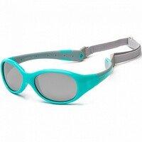 Детские солнцезащитные очки Koolsun KS-FLAG003 бирюзово-серые 3+ (KS-FLAG003)