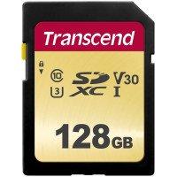 Карта памяти TRANSCEND SDXC 128GB Class 10 UHS-I U1 R95/W60 MB/s (TS128GSDC500S)