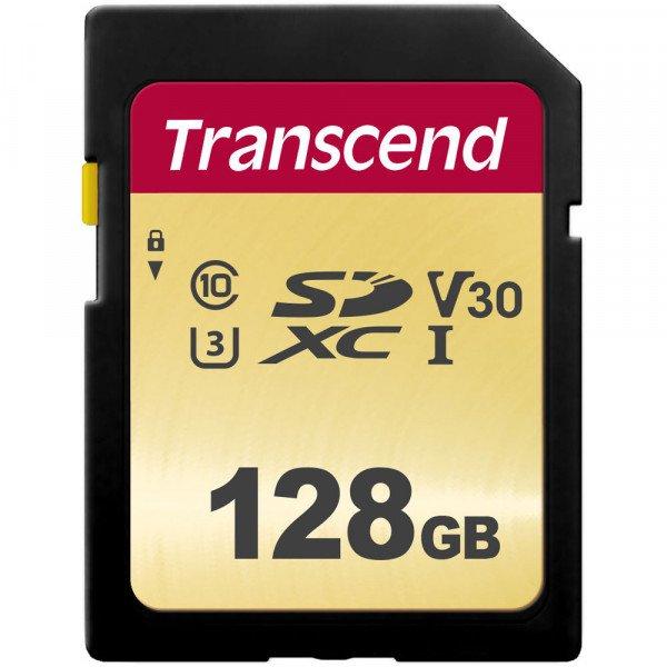 Купить Карты памяти SD, Карта памяти TRANSCEND SDXC 128GB Class 10 UHS-I U1 R95/W60 MB/s (TS128GSDC500S)
