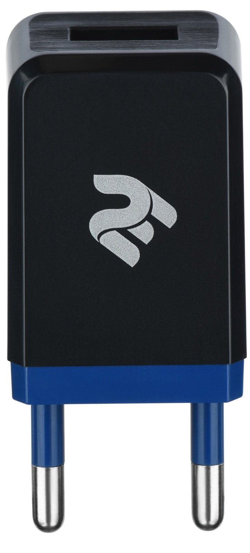 Мережевий зарядний пристрій 2E USB Wall Charger 1A Black фото