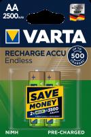 Аккумулятор VARTA Rechargeable ACCU ENDLESS AA 2500 mAh BLI 2 NI-MH (56686101402)