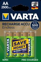 Аккумулятор VARTA Rechargeable ACCU ENDLESS AA 2500 mAh BLI 4 NI-MH (56686101404)