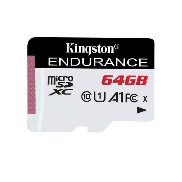 Купить Карты памяти MicroSD, Карта памяти Kingston microSDXC 64GB Class 10 UHS-I R90/W45MB/s High Endurance