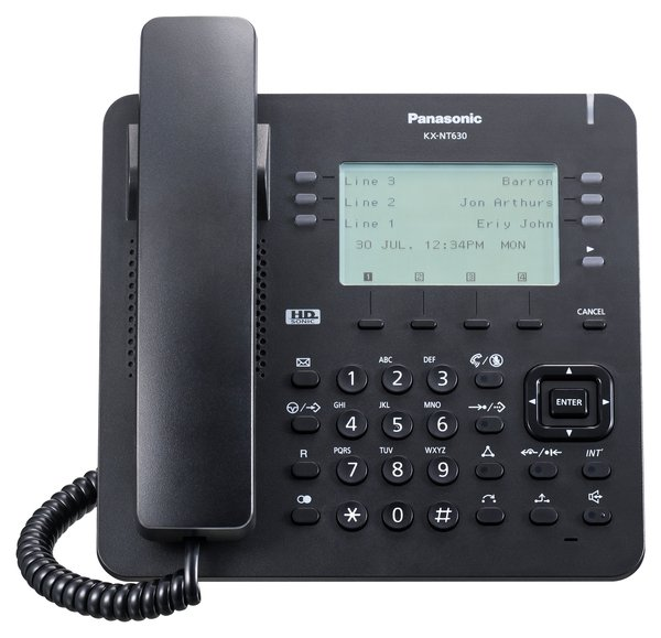 IP-телефон Panasonic KX-NT630RU-B Black для АТС Panasonic KX-NS/NSX