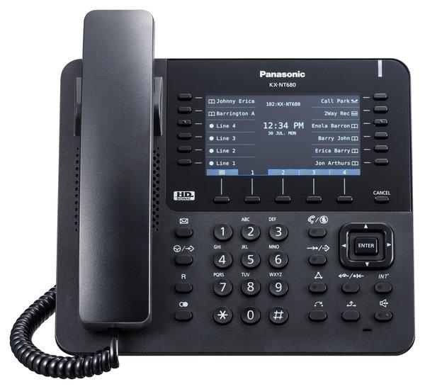 Купить Системные телефоны, IP-телефон Panasonic KX-NT680RU-B Black для АТС Panasonic KX-NS/NSX