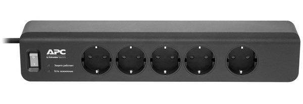 Купить Сетевые фильтры, Фильтр APC Essential SurgeArrest 5 outlets new, black (PM5B-RS)