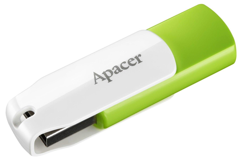 Накопичувач USB 2.0 APACER AH335 32GB Green/White (AP32GAH335G-1) фото1