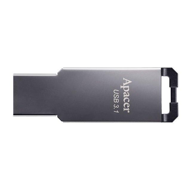 Накопичувач USB 3.1 APACER AH360 64GB Metal Black (AP64GAH360A-1) фото1
