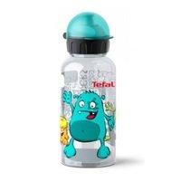 Детская бутылка для питья Tefal Drink2go Tritan голубая, декор Монстр, 0,4 л (K3170214)