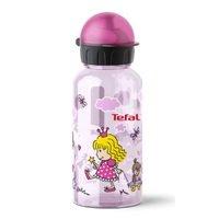 Детская бутылка для питья Tefal Drink2go Tritan розовая, декор Принцесса, 0,4 л (K3170114)