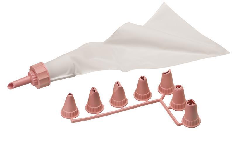 Мешок кондитерский с насадками Ardesto Tasty baking розовый (AR2307PP) фото 1