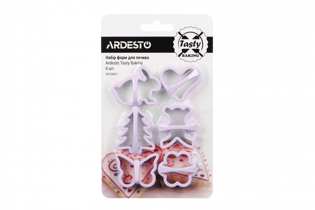 Набір форм для печива Ardesto Tasty baking ліловий 6 шт (AR2308LP) фото1