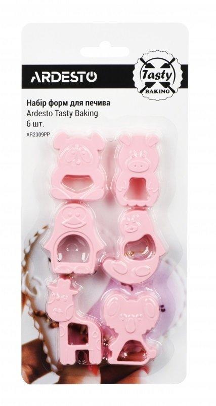 Набор форм для печенья Ardesto Tasty baking розовый 6 шт (AR2309PP) фото 1