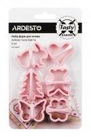 Набір форм для печива Ardesto Tasty baking рожевий 6 шт (AR2308PP)