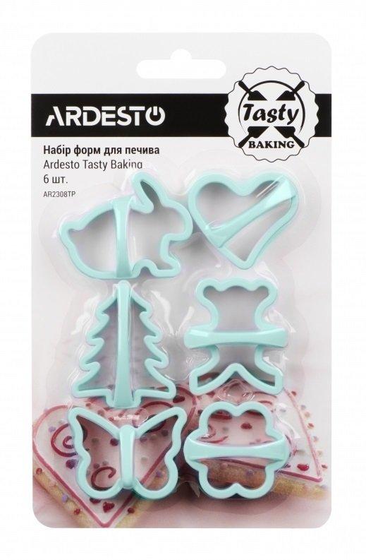 Набір форм для печива Ardesto Tasty baking блакитний 6 шт (AR2308TP) фото