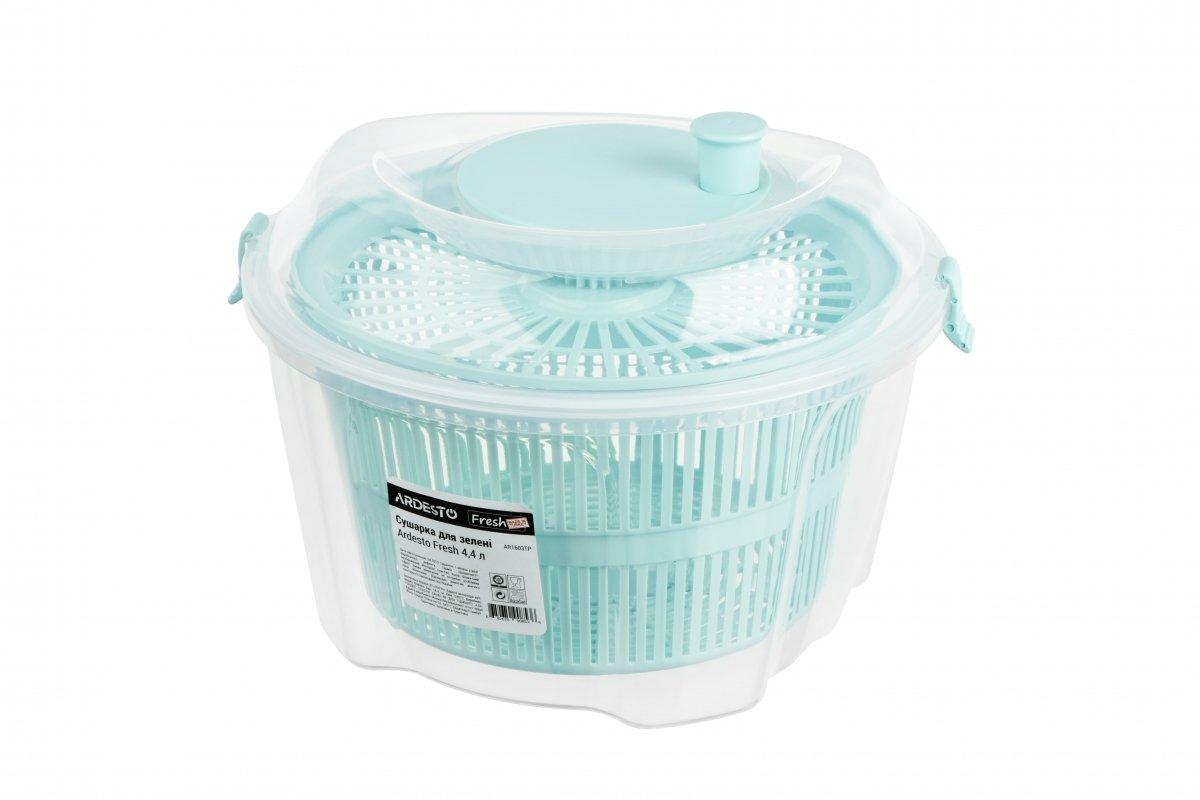 Сушка для салата Ardesto Fresh голубая 4,4 л (AR1603TP) фото