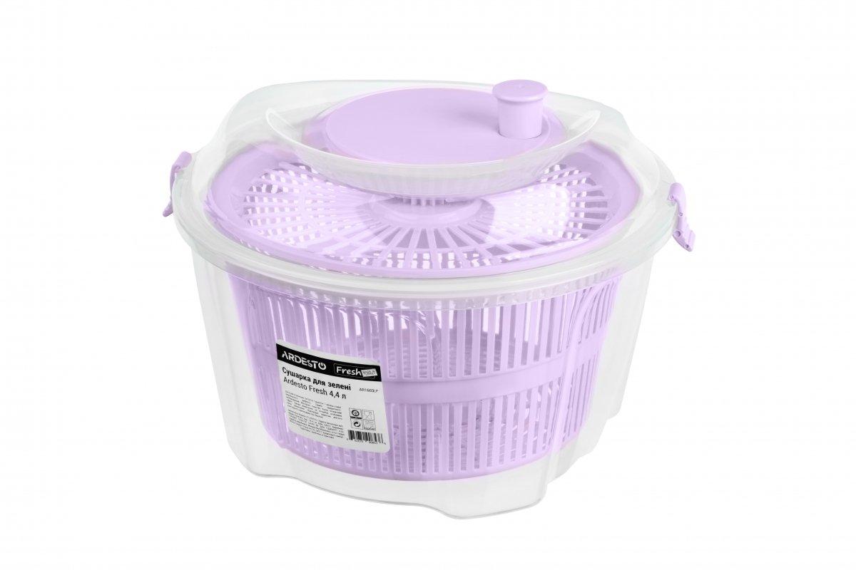 Сушка для салата Ardesto Fresh лиловая 4,4 л (AR1603LP) фото 1