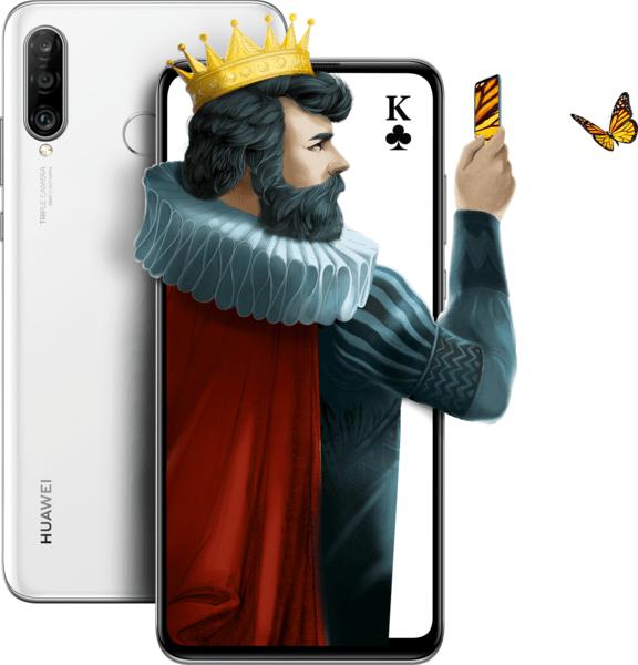 Купить Смартфоны, СмартфонHuaweiP30 Lite 4/128GB Pearl White