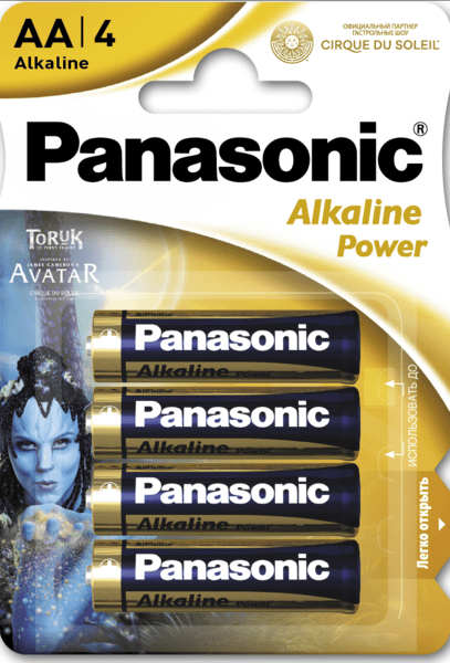 Батарейка Panasonic ALKALINE POWER AA BLI 4 Cirque du Soleil