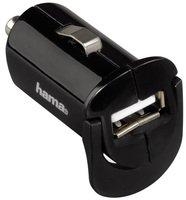 Автомобильное зарядное устройство Hama 1A + microUSB Cable Black